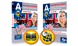 Theory book Motorcycle + 15 hours Internet exam training